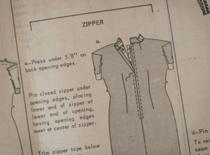 Inserting a closed end zipper