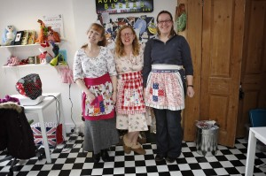 lovely ladies, lovely aprons