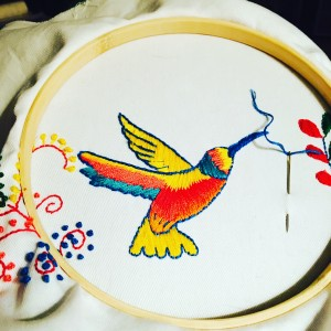 Hummingbird design by sublimestitching