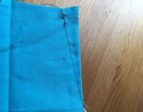 Dart tacked for stitching