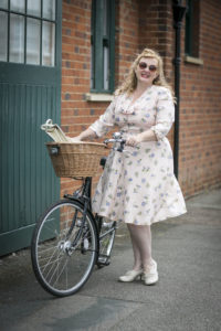 checking my dress is appropriate for cycling