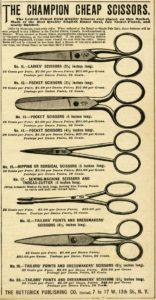 Vintage scissor selection